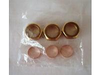 A set of 3 Brass Bush; 28mm (diameter) x 13mm (depth)