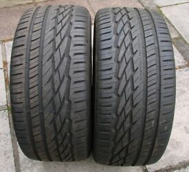 19 inch tyres 285/45/19 General Grabber GT 111W Tyres one pair lots of tred left