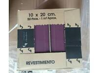 Plum wall tiles ×6 boxes