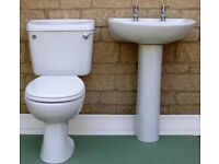Twyford's 2 piece white bathroom suite - toilet and basin - suitable for cloakroom