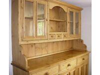 Large Waxed Pine Dresser