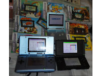 4 Nintendo Consoles: Game Boy Advance SP (GBA x2) + DS + DS Lite + Game Cartridges. Working Job Lot