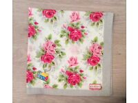 New Cath Kidston roses cotton scarf neckerchief and keyring