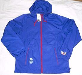 Official Olympic TEAM GB Windbreaker Rain Jacket ATHLETE ISSUE Elite BNWT S/M