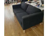 Black Ikea Two seater Sofa