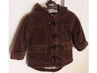 Boys Next coat aged 9-12 months
