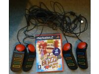 PS2 Buzz the music Quiz Game + 4 controllers