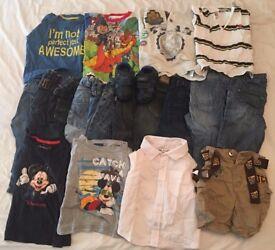 Boys 12-18 months bundle of clothes (Jeans, T -Shirts, Shirts, Shorts & Shoes)