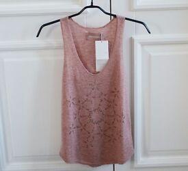 RRP £150 - Zadig & Voltaire Cashmere Embellished Vest Sz S/36 - NEW