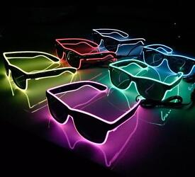 Job lot of 50 pairs of LED flashing sunglasses bulk buy Stag hen do party
