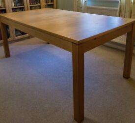 Dining table Ikea Bjursta extendable to 220cm oak veneer