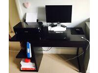 Small black office desk