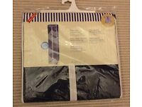 HANGING WARDROBE, NEW UNOPENED IN PACKET, SUPERWOVEN FABRIC WITH METAL FRAME