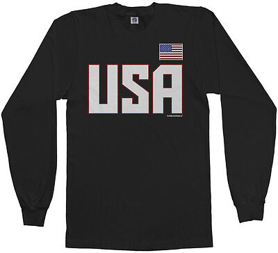 National Team Long Sleeve Tee - Threadrock Men's USA National Team Long Sleeve T-shirt US Sports