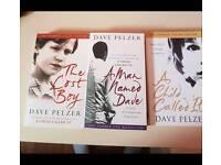 David Pelzer books- set of 3