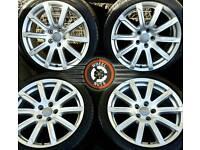"18"" Genuine Audi A4 alloys, rare upgrade type, 4 matching premium Pirelli tyres."