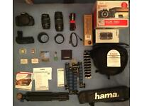 Canon 700d Body, 2 Lenses & Accessories