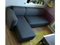 3 seater corner sofa, left hand facing. Must go asap