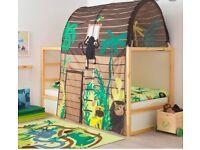 IKEA Children's cabin bed w Rainforest bed tent