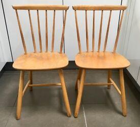 Pair Farstrup Danish Original Mid Century Dining Chairs