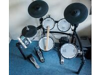 Roland TD-9 Electric V-Drum Kit - Extras: Speaker, Bluetooth Receiver, Sticks and Double Bass Pedal