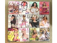 Vogue U.K. archive 2002-2015 inc. Kate Moss collectors issues