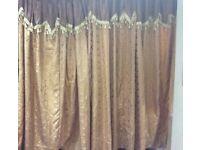 Curtains beige brown