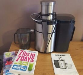 selling a juicer machine and recipe book for juicing