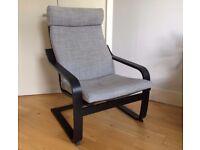 """Armchair with Cushion – IKEA """"Poäng"""""""
