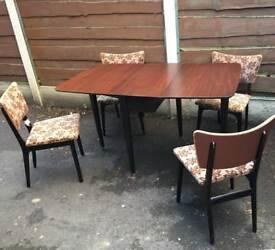 Mid Century Vintage Drop Leaf Dining Table