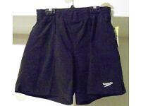 Speedo Junior Solid Leisure Boys Shorts. Black. Large, or XXL.
