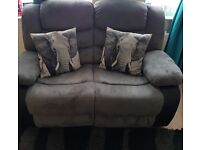 Suede and Leather Recliners