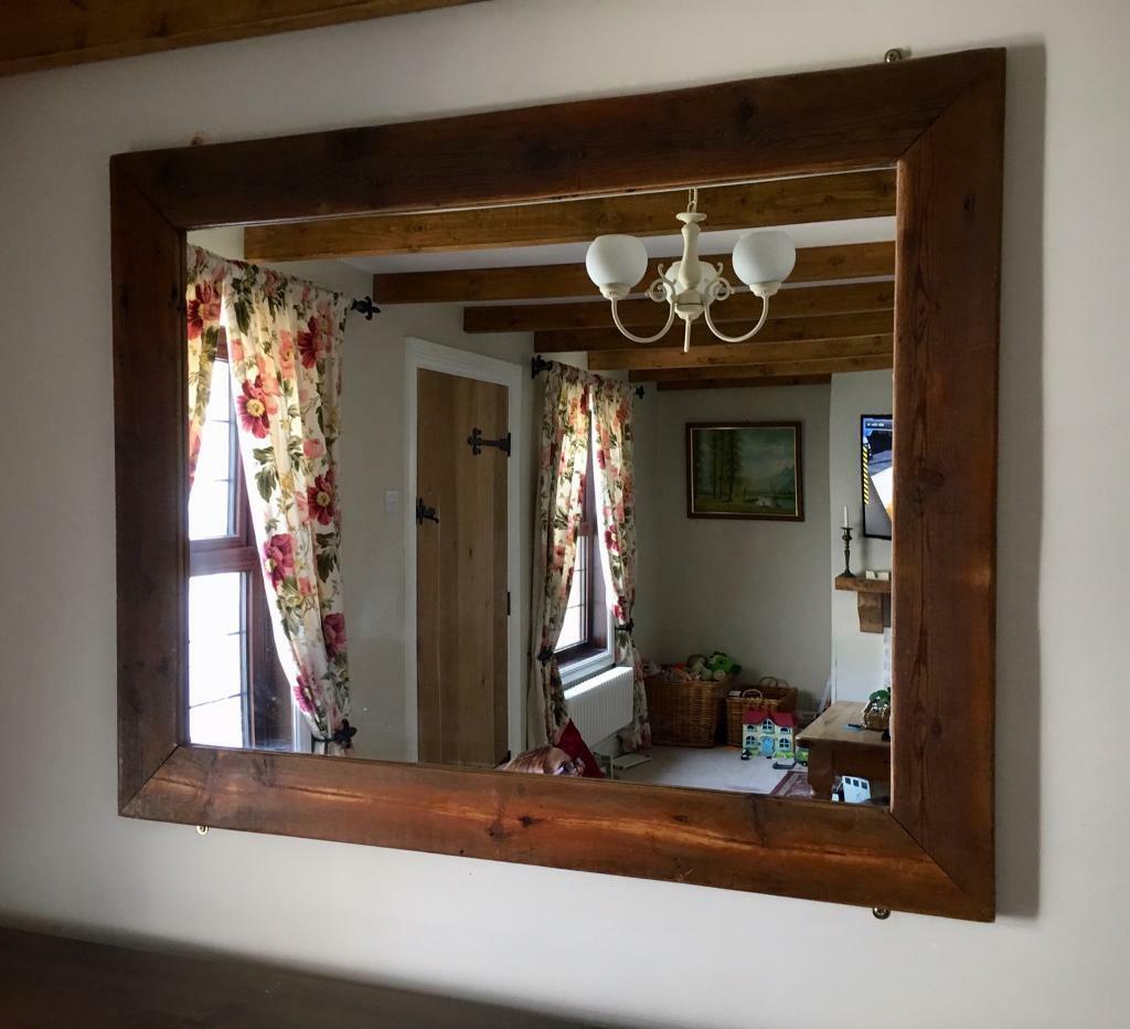 Large Rustic Wood Mirror In Wroughton Wiltshire Gumtree