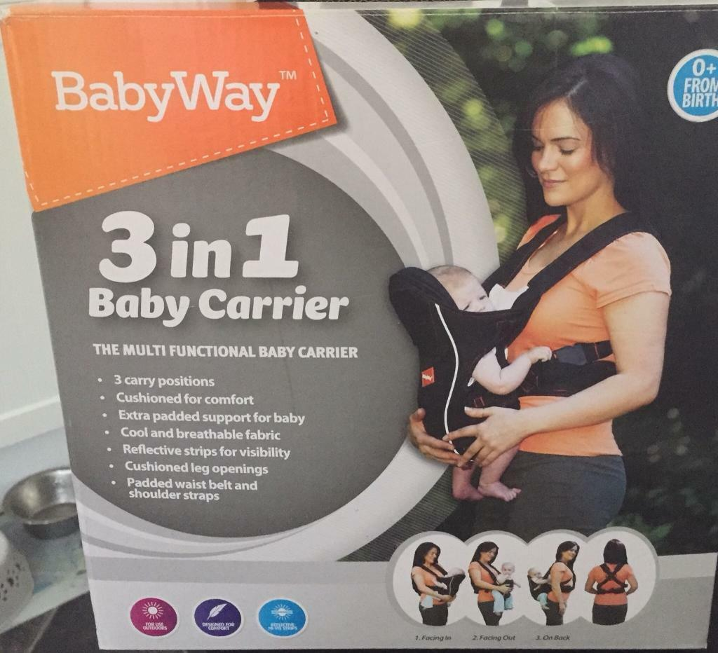 3f4f7ccd295 BabyWay 3 in 1 Baby Carrier