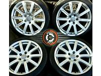 "18"" Genuine Audi A4 alloys, rare upgrade type, 4 matching premium Pirelli tyres"