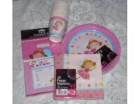 Birthday Set 15 Pink Fairies Invitations Cups Plates Napkins Party Bags Fairy