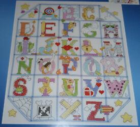 Janlynn ABC World (Alphabet) Cross Stitch Kit, Ref: #023–0385
