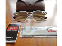 Brand New Ray-Ban Clubmaster Aluminum Flash