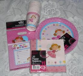 irthday Party Set 20 Pink Fairy Party Invitations Cups Plates Napkins Bags BBQ Fairies