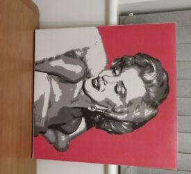 Beautiful Marilyn Monroe canvas