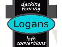 Logans Decking Fencing Loft or Garage Conversions Laminate Flooring Conservatories Joinery