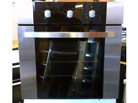 HomeKing HOF600SS Fan Assisted Single Electric Oven In Brushed Stainless Steel