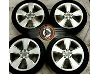 "17"" Genuine Audi alloys, VW/ Seat/ Skoda/ Caddy 5x112, excellent matching tyres."
