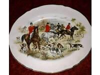 Hunting scene plate