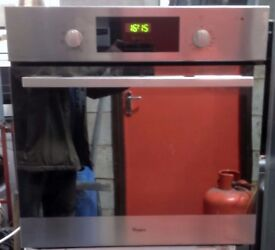 Whirlpool AKP206/01/IX Fan Assisted Single Electric Oven In Stainless Steel