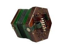 F C NICKOLDS ENGLISH 48-KEY SYSTEM CONCERTINA HAND ACCORDION, C WHEATSTONE CASE