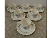 Poole Pottery Cup And Saucer Set x6
