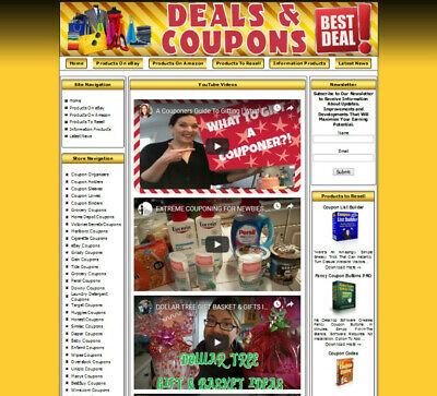Coupon Website. Free Domain Name.