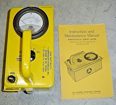 Victoreen Ocd Cdv-715 Radiation Detector Survey Meter Model 1b