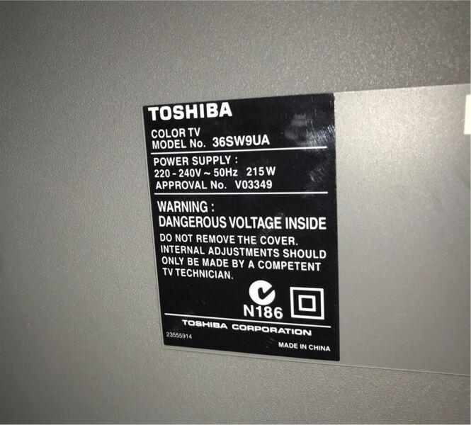 "Toshiba 36"" /"